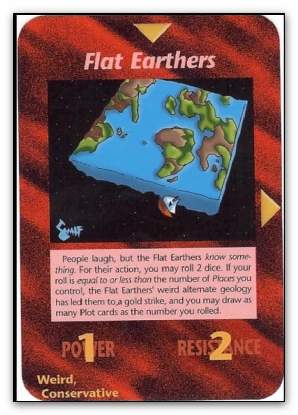 Tierra Plana  ¿? Tierra redonda¿? Illuminati-card-flat-earthers