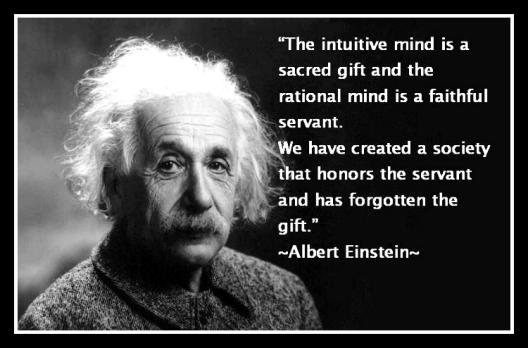 Einstein on the intuitive mind